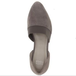 Eileen Fisher Flute sienna suede pointy toe flats